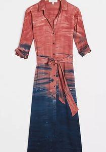 NWT Cloth & Stone Claudia Tie-Dye Maxi Shirtdress